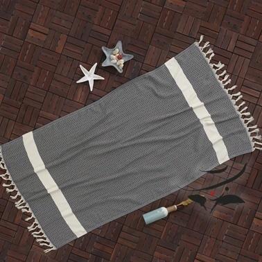 Lady Moda Peştemal Diamond Black Yüzde Yüz Pamuklu 100x180 cm Renkli